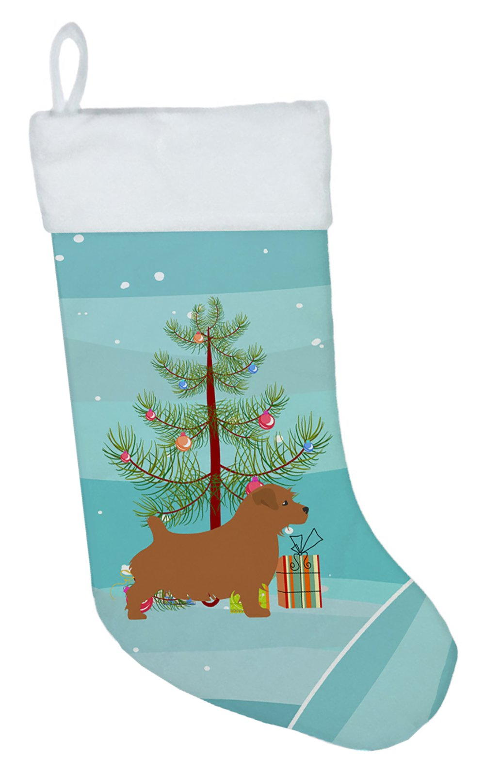 Norfolk Terrier Merry Christmas Tree Christmas Stocking BB2927CS by Caroline's Treasures