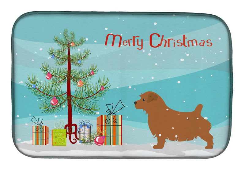 Buy this Norfolk Terrier Merry Christmas Tree Dish Drying Mat BB2927DDM