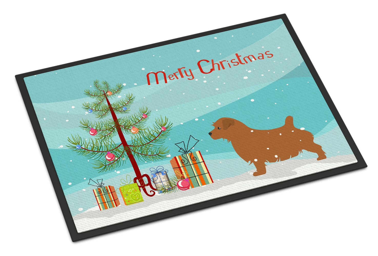 Buy this Norfolk Terrier Merry Christmas Tree Indoor or Outdoor Mat 24x36 BB2927JMAT