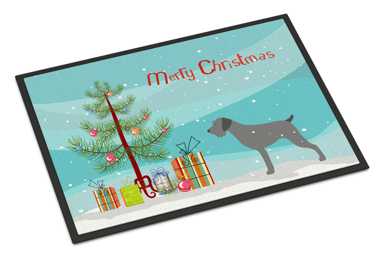 German Wirehaired Pointer Merry Christmas Tree Indoor or Outdoor Mat 18x27 BB2929MAT by Caroline's Treasures