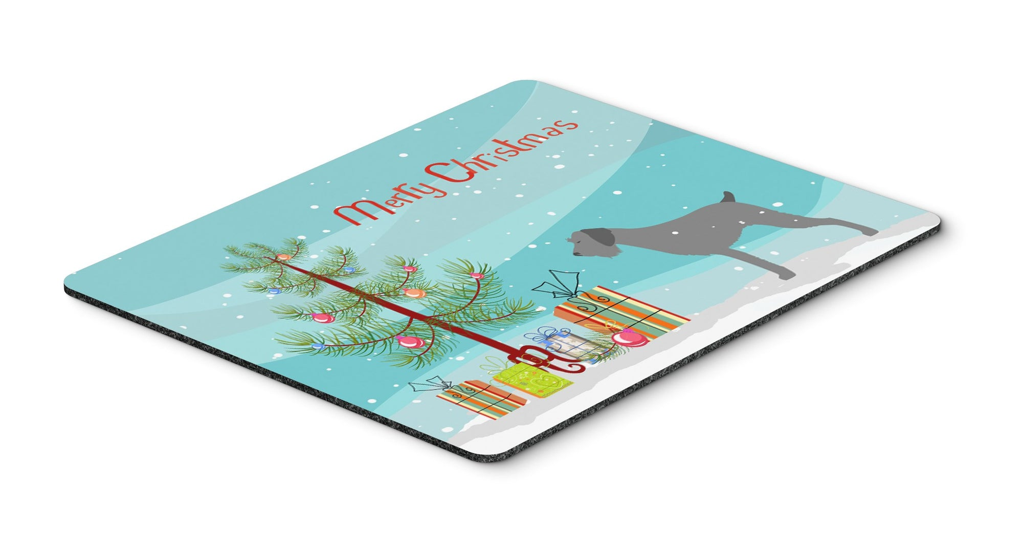 "Buy this ""German Wirehaired Pointer Merry Christmas Tree Mouse Pad, Hot Pad or Trivet"""