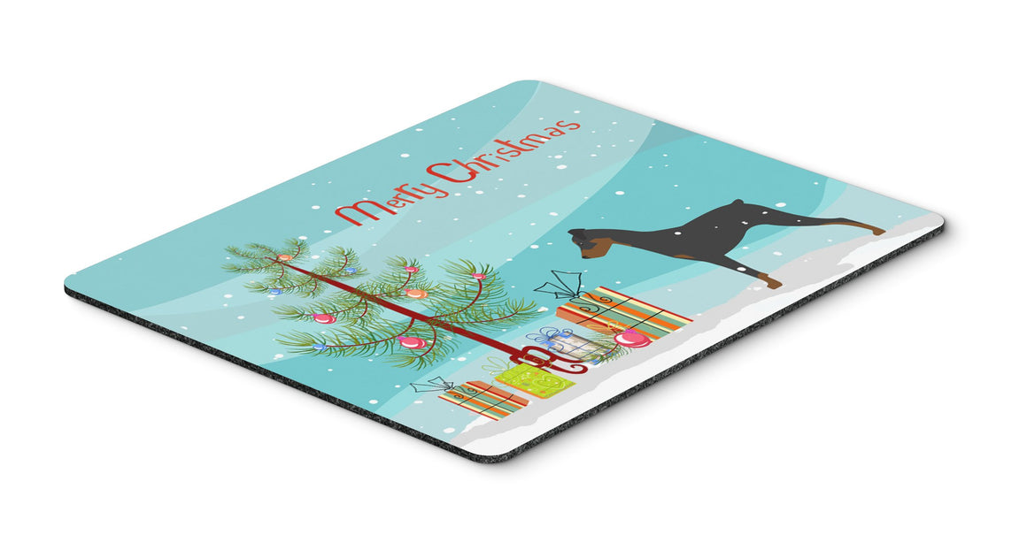 "Buy this ""German Pinscher Merry Christmas Tree Mouse Pad, Hot Pad or Trivet"""