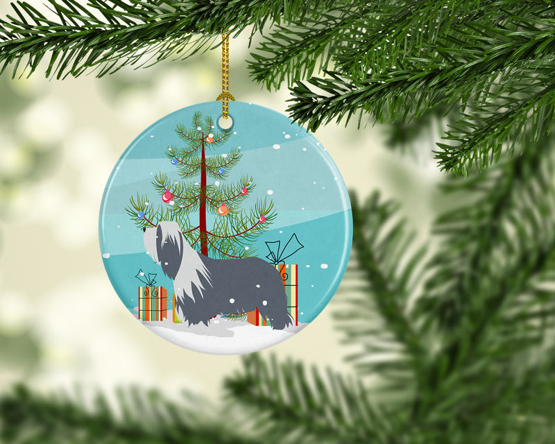Buy this Bearded Collie Dog Merry Christmas Tree Ceramic Ornament BB2935CO1