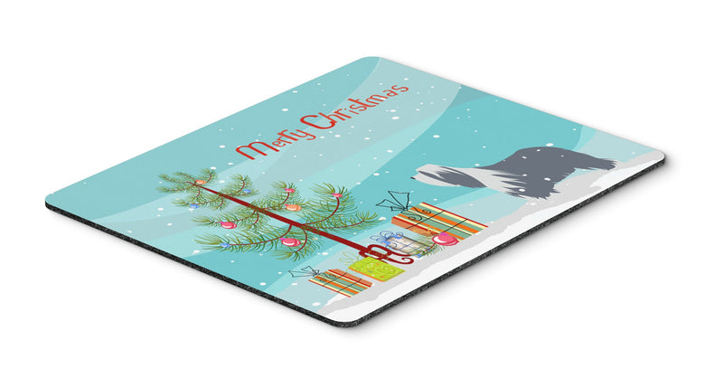 Buy this Bearded Collie Dog Merry Christmas Tree Mouse Pad, Hot Pad or Trivet BB2935MP