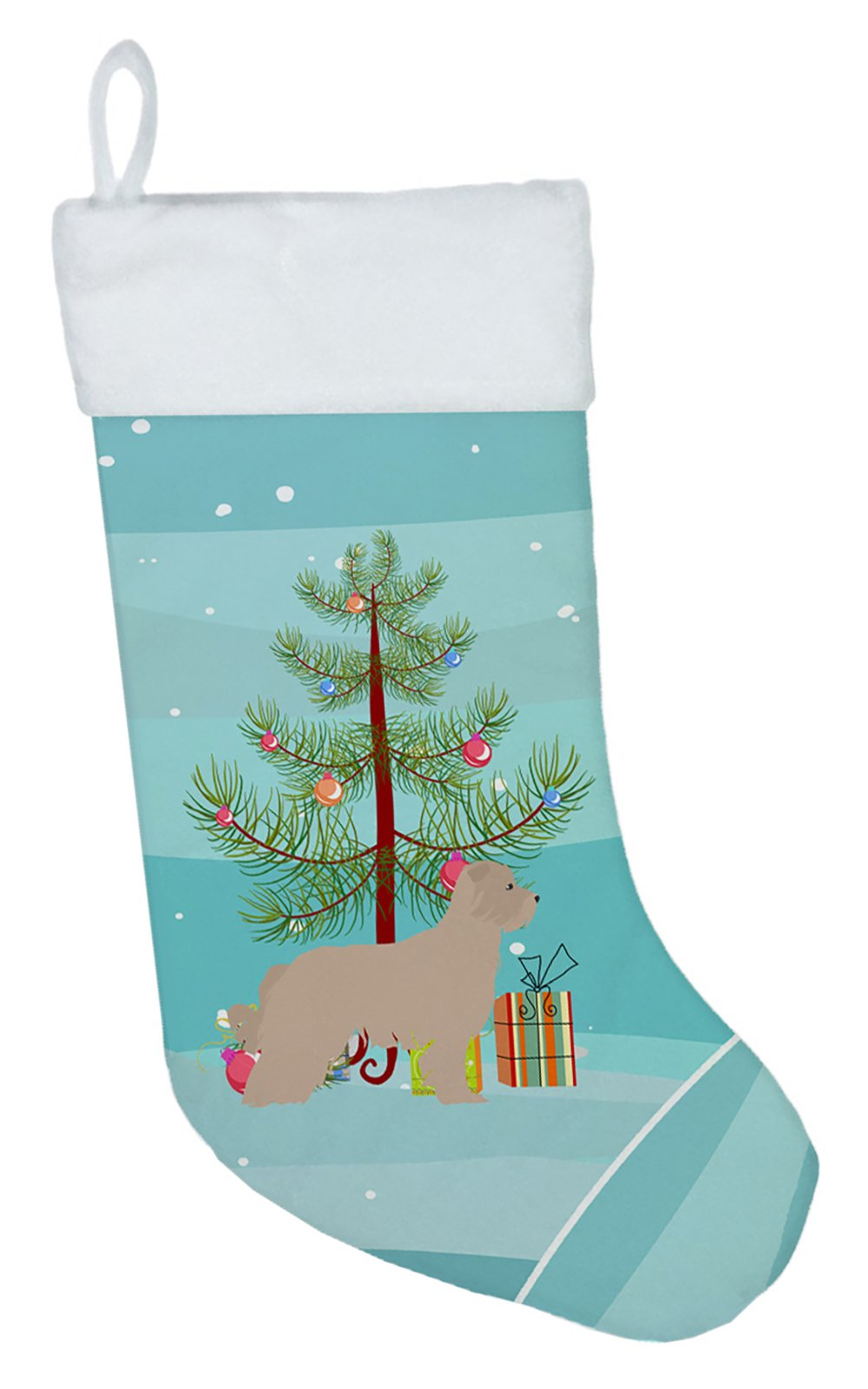 Pyrenean Shepherd Dog Merry Christmas Tree Christmas Stocking BB2936CS by Caroline's Treasures