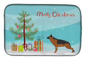 Buy this German Shepherd Merry Christmas Tree Dish Drying Mat BB2942DDM