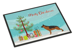 Buy this German Shepherd Merry Christmas Tree Indoor or Outdoor Mat 24x36 BB2942JMAT