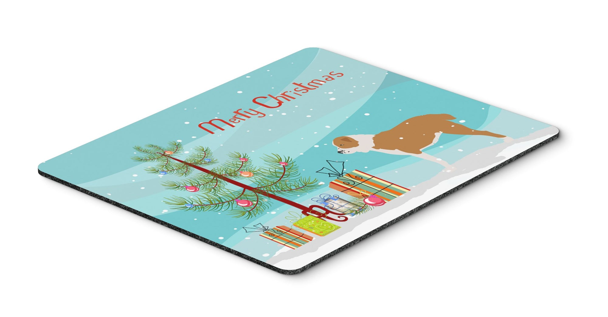 "Buy this ""Central Asian Shepherd Dog Merry Christmas Tree Mouse Pad, Hot Pad or Trivet"""