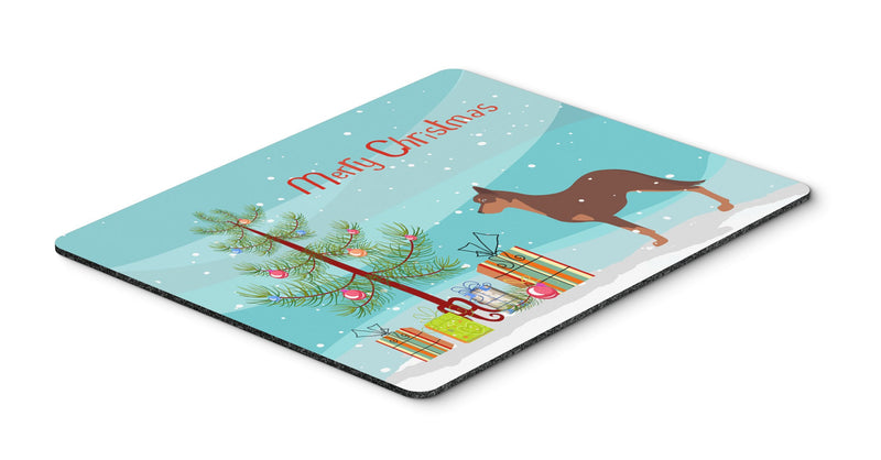 "Buy this ""Australian Kelpie Dog Merry Christmas Tree Mouse Pad, Hot Pad or Trivet"""