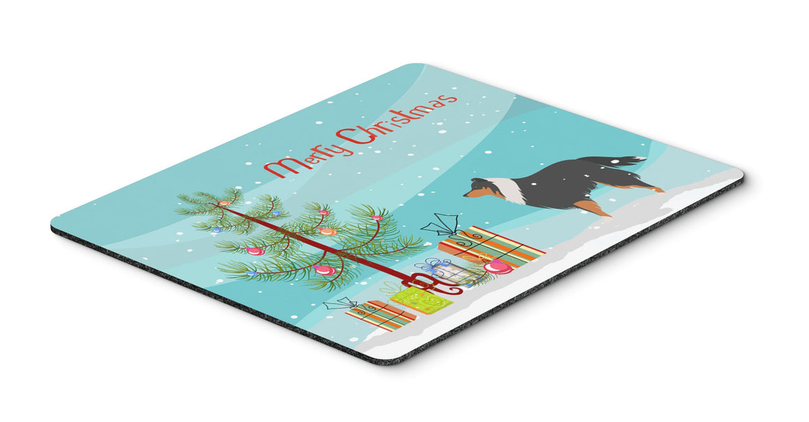 Buy this Sheltie/Shetland Sheepdog Merry Christmas Tree Mouse Pad, Hot Pad or Trivet BB2948MP