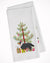 Buy this Sheltie/Shetland Sheepdog Merry Christmas Tree White Kitchen Towel Set of 2 BB2948WTKT