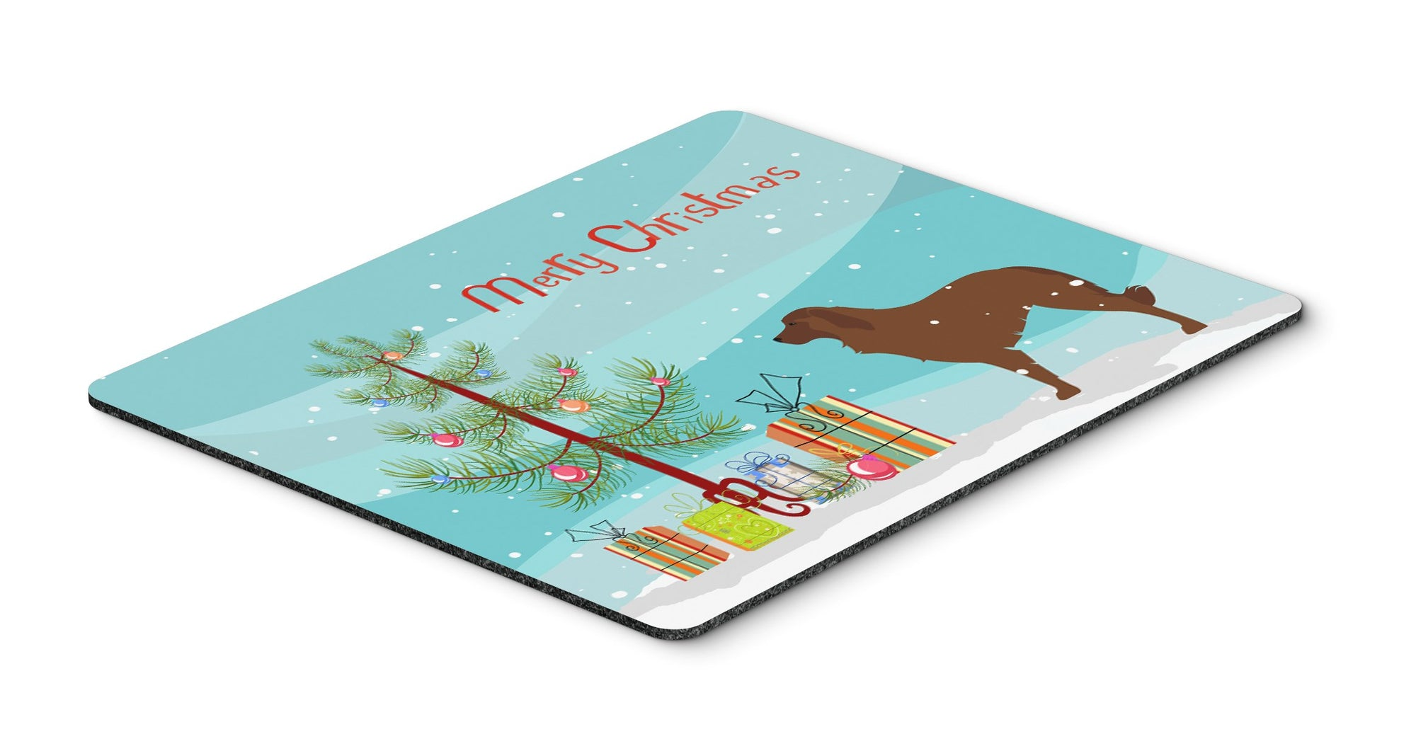 "Buy this ""Portuguese Sheepdog Dog Merry Christmas Tree Mouse Pad, Hot Pad or Trivet"""