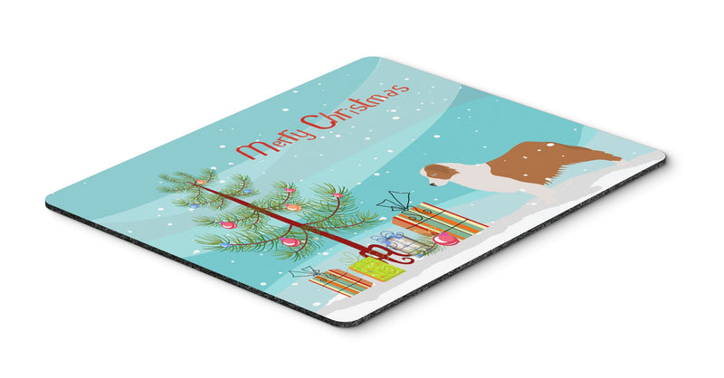 "Buy this ""Australian Shepherd Dog Merry Christmas Tree Mouse Pad, Hot Pad or Trivet"""
