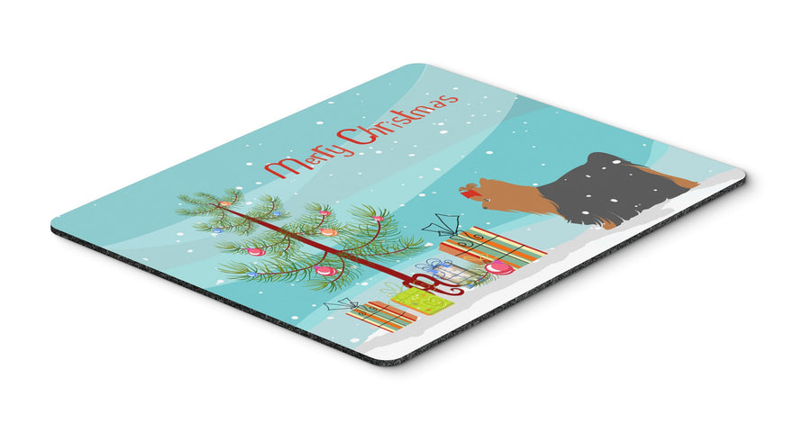 "Buy this ""Yorkshire Terrier Yorkie Merry Christmas Tree Mouse Pad, Hot Pad or Trivet"""