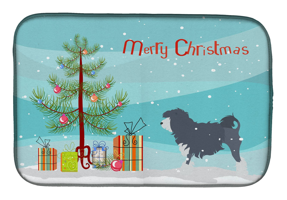 Buy this Lowchen Merry Christmas Tree Dish Drying Mat BB2953DDM
