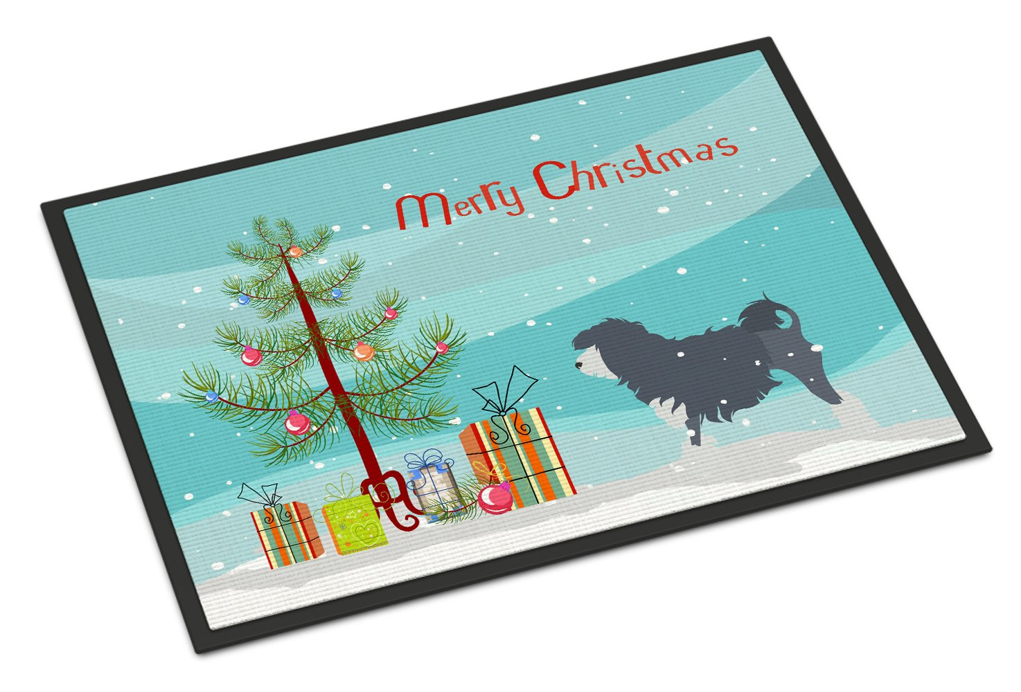Lowchen Merry Christmas Tree Indoor or Outdoor Mat 24x36 BB2953JMAT by Caroline's Treasures