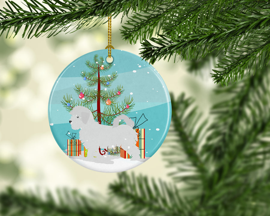 Buy this Maltese Merry Christmas Tree Ceramic Ornament BB2954CO1
