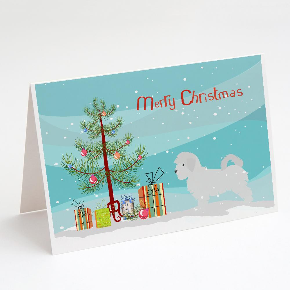 Buy this Maltese Merry Christmas Tree Greeting Cards and Envelopes Pack of 8