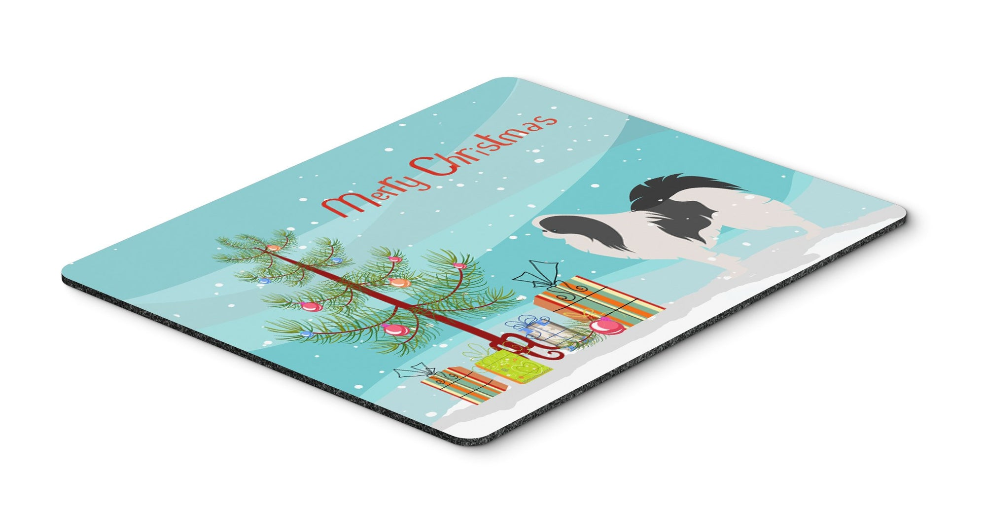Japanese Chin Merry Christmas Tree Mouse Pad, Hot Pad or Trivet BB2955MP by Caroline's Treasures