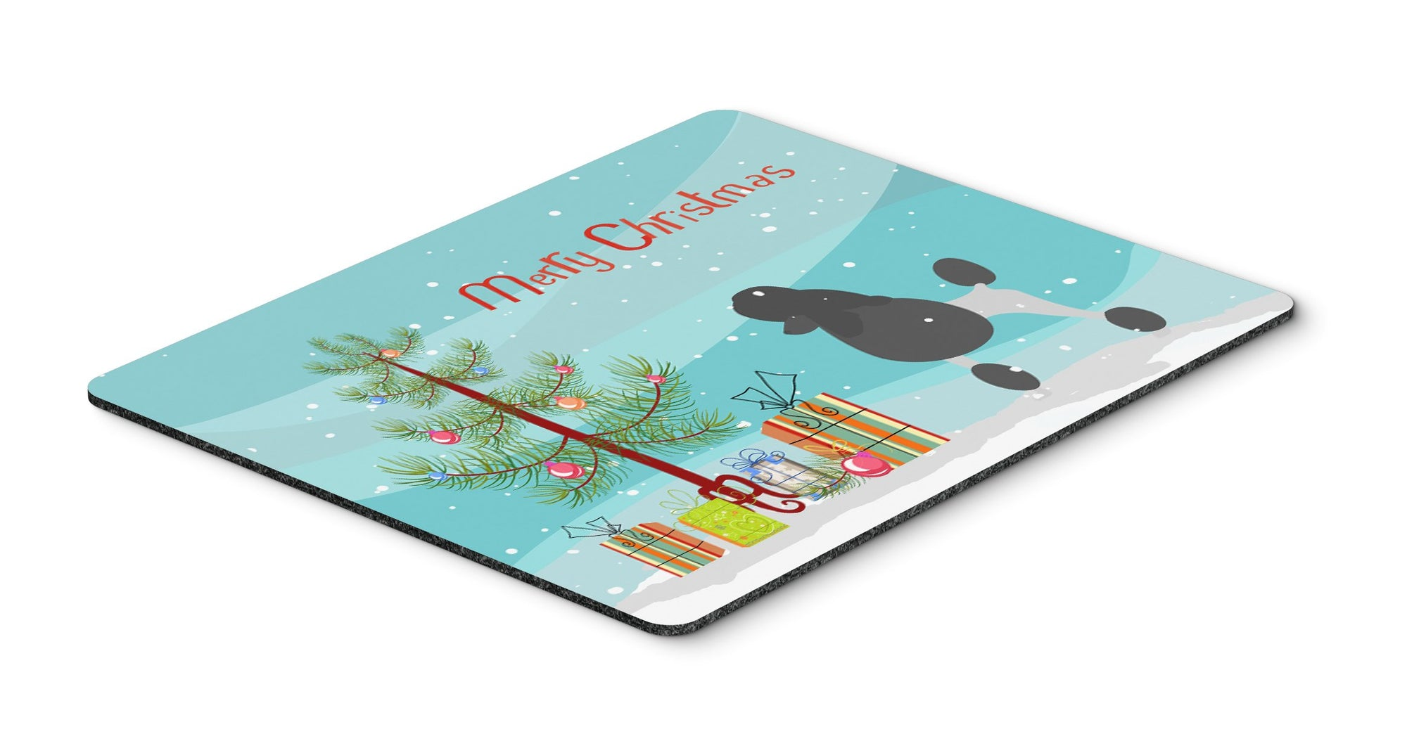 "Buy this ""Poodle Merry Christmas Tree Mouse Pad, Hot Pad or Trivet"""