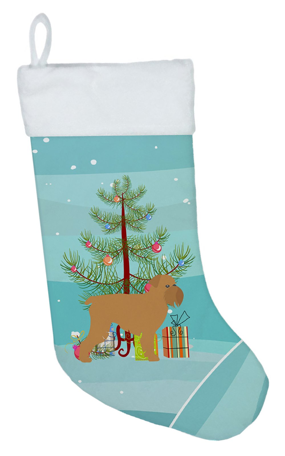 Brussels Griffon Merry Christmas Tree Christmas Stocking BB2958CS by Caroline's Treasures