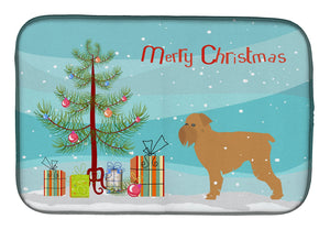 Buy this Brussels Griffon Merry Christmas Tree Dish Drying Mat BB2958DDM