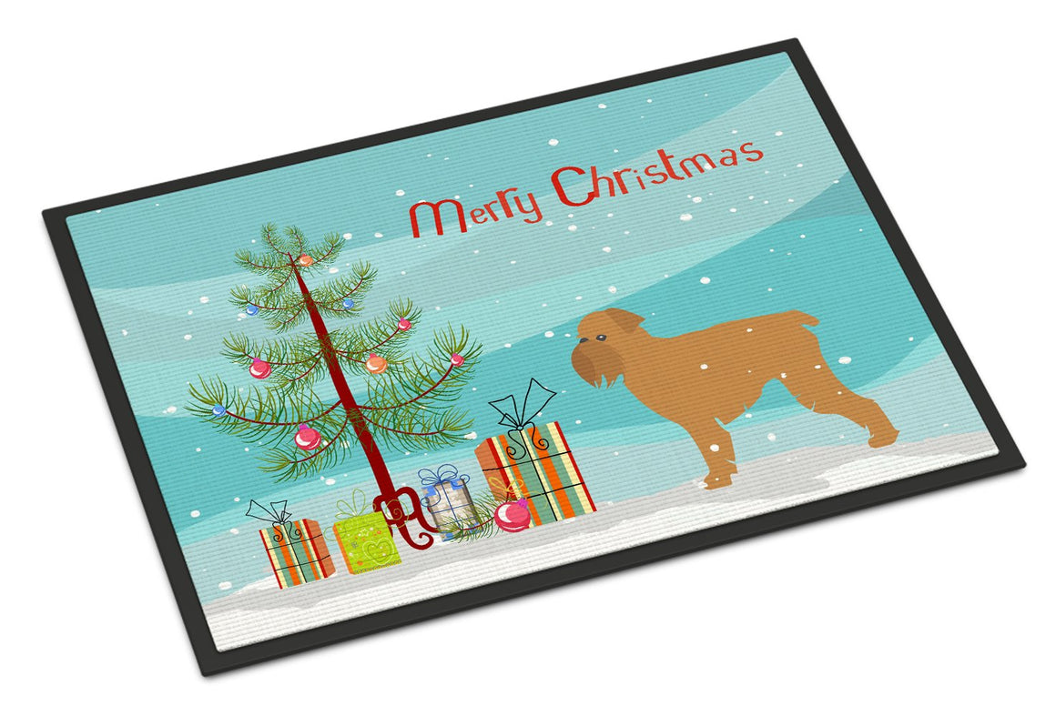 Buy this Brussels Griffon Merry Christmas Tree Indoor or Outdoor Mat 24x36 BB2958JMAT