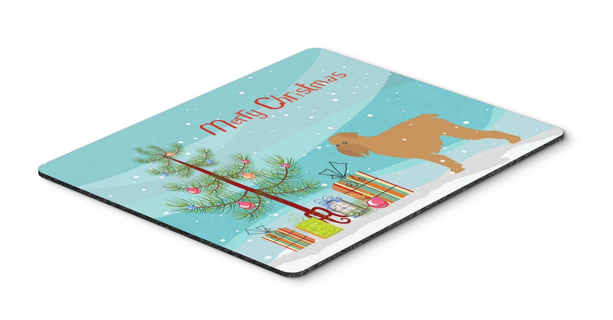 "Buy this ""Brussels Griffon Merry Christmas Tree Mouse Pad, Hot Pad or Trivet"""