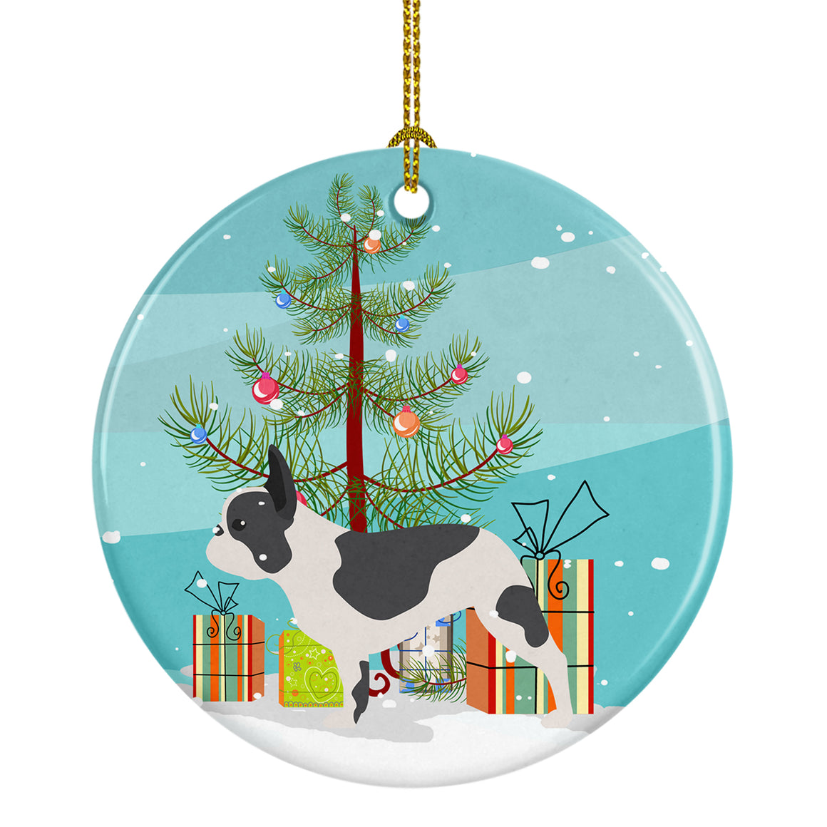 Buy this French Bulldog Merry Christmas Tree Ceramic Ornament BB2959CO1
