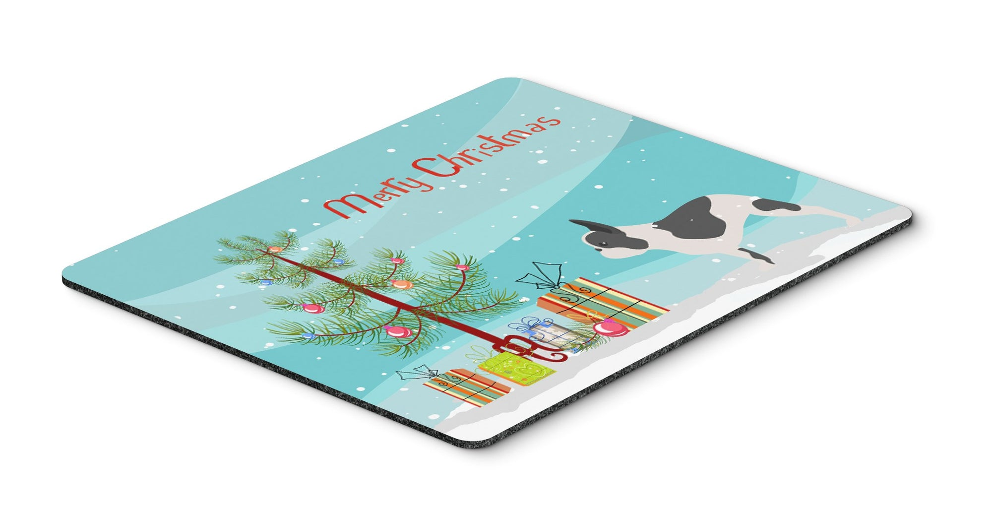 "Buy this ""French Bulldog Merry Christmas Tree Mouse Pad, Hot Pad or Trivet"""