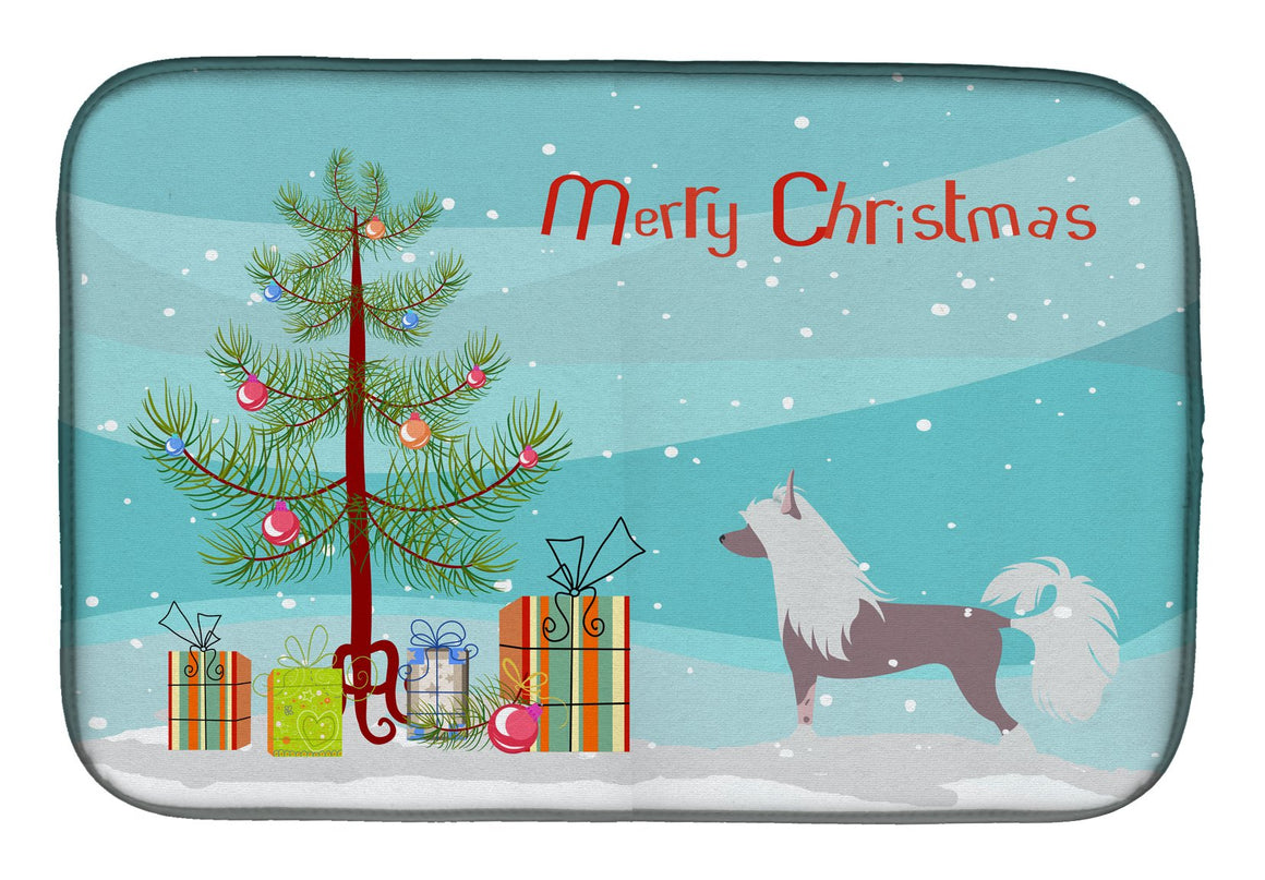 Buy this Chinese Crested Merry Christmas Tree Dish Drying Mat BB2961DDM
