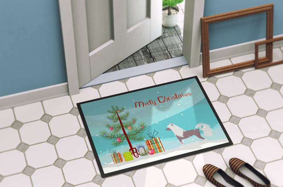 Buy this Chinese Crested Merry Christmas Tree Indoor or Outdoor Mat 24x36 BB2961JMAT