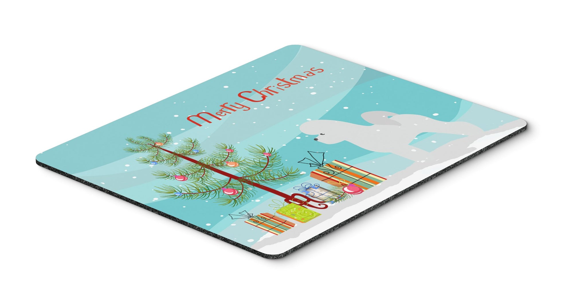 Buy this Bichon Frise Merry Christmas Tree Mouse Pad, Hot Pad or Trivet""