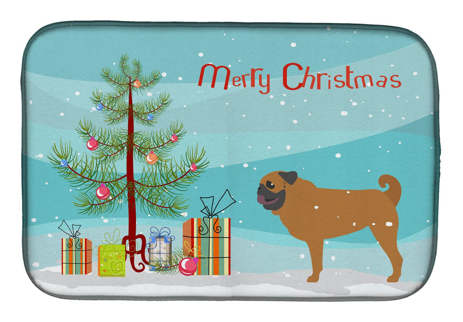 Buy this Pug Merry Christmas Tree Dish Drying Mat BB2965DDM