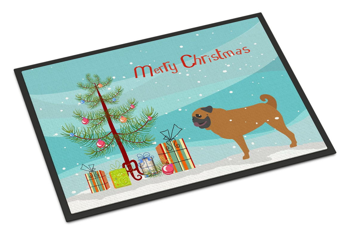 Buy this Pug Merry Christmas Tree Indoor or Outdoor Mat 24x36 BB2965JMAT