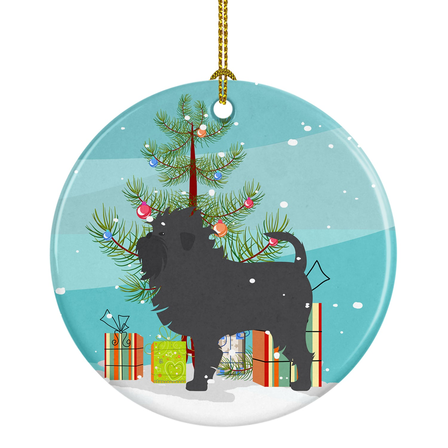 Buy this Affenpinscher Merry Christmas Tree Ceramic Ornament BB2966CO1