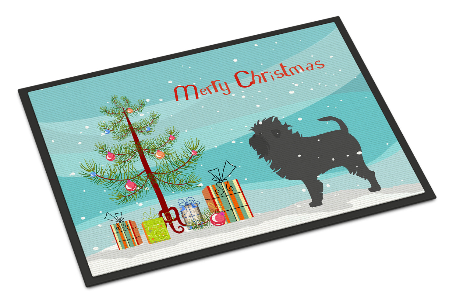 Affenpinscher Merry Christmas Tree Indoor or Outdoor Mat 18x27 BB2966MAT by Caroline's Treasures