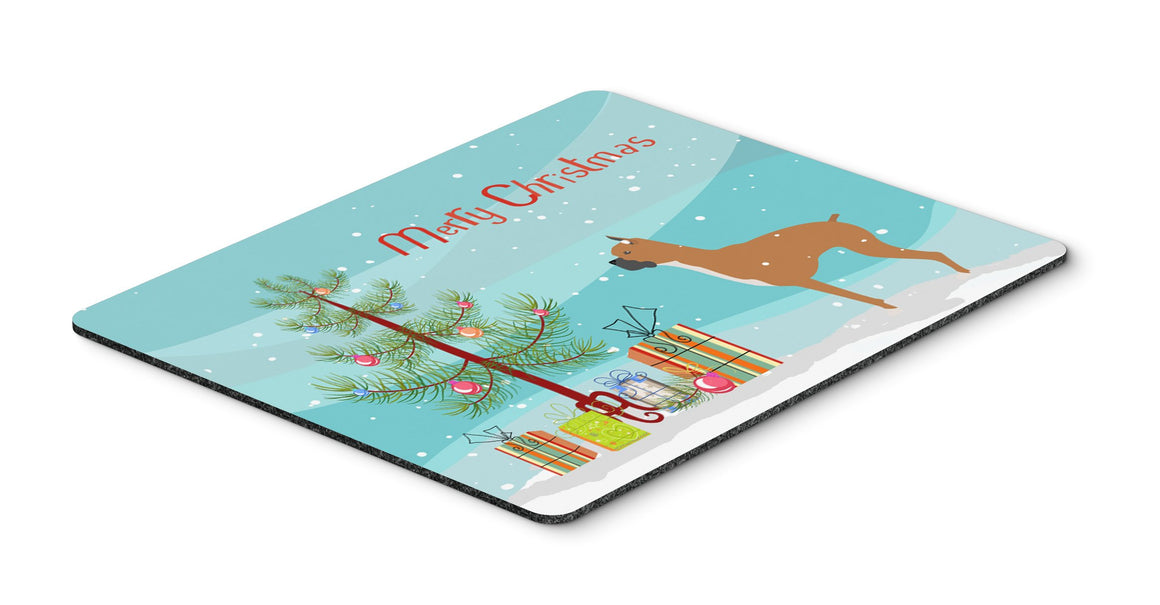 "Buy this ""Boxer Merry Christmas Tree Mouse Pad, Hot Pad or Trivet"""