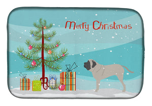 Buy this English Mastiff Merry Christmas Tree Dish Drying Mat BB2974DDM