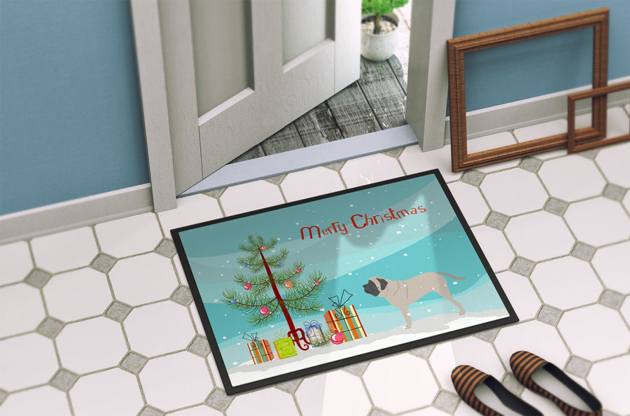 Buy this English Mastiff Merry Christmas Tree Indoor or Outdoor Mat 24x36 BB2974JMAT