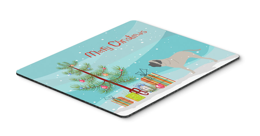 Buy this English Mastiff Merry Christmas Tree Mouse Pad, Hot Pad or Trivet BB2974MP