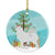 Buy this Samoyed Merry Christmas Tree Ceramic Ornament BB2977CO1