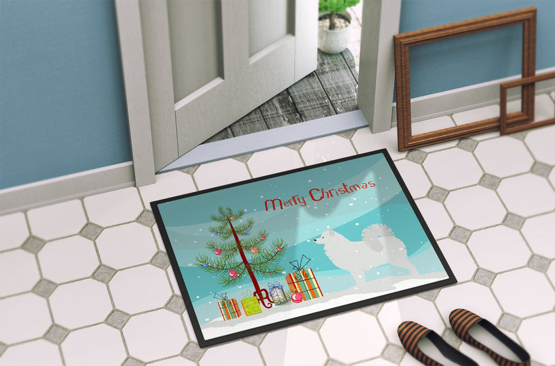 Buy this Samoyed Merry Christmas Tree Indoor or Outdoor Mat 24x36 BB2977JMAT