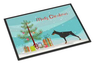 Buy this Doberman Pinscher Merry Christmas Tree Indoor or Outdoor Mat 24x36 BB2978JMAT