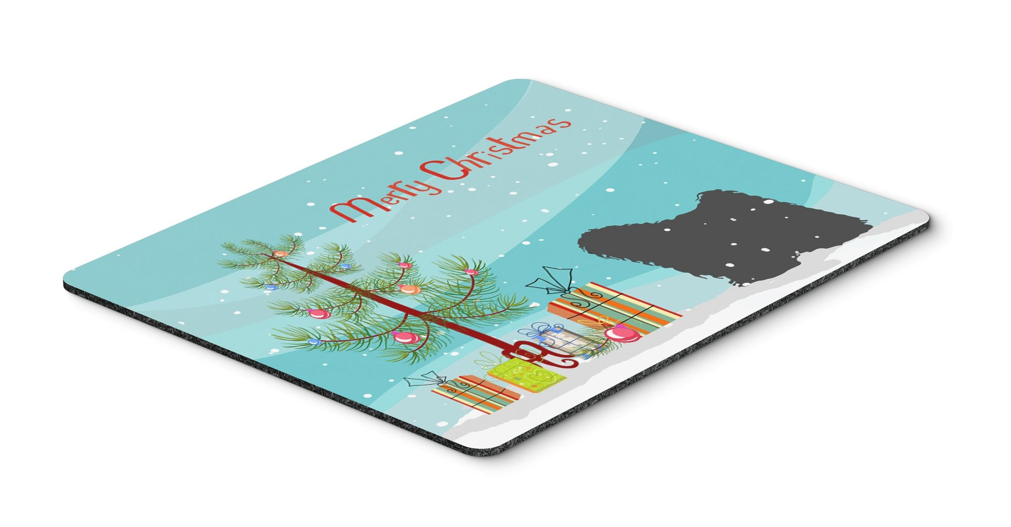"Buy this ""Puli Merry Christmas Tree Mouse Pad, Hot Pad or Trivet"""