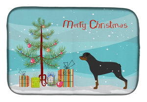 Buy this Rottweiler Merry Christmas Tree Dish Drying Mat BB2984DDM