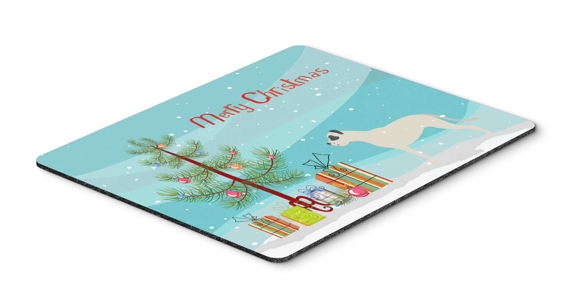 "Buy this ""Dogo Argentino Merry Christmas Tree Mouse Pad, Hot Pad or Trivet"""