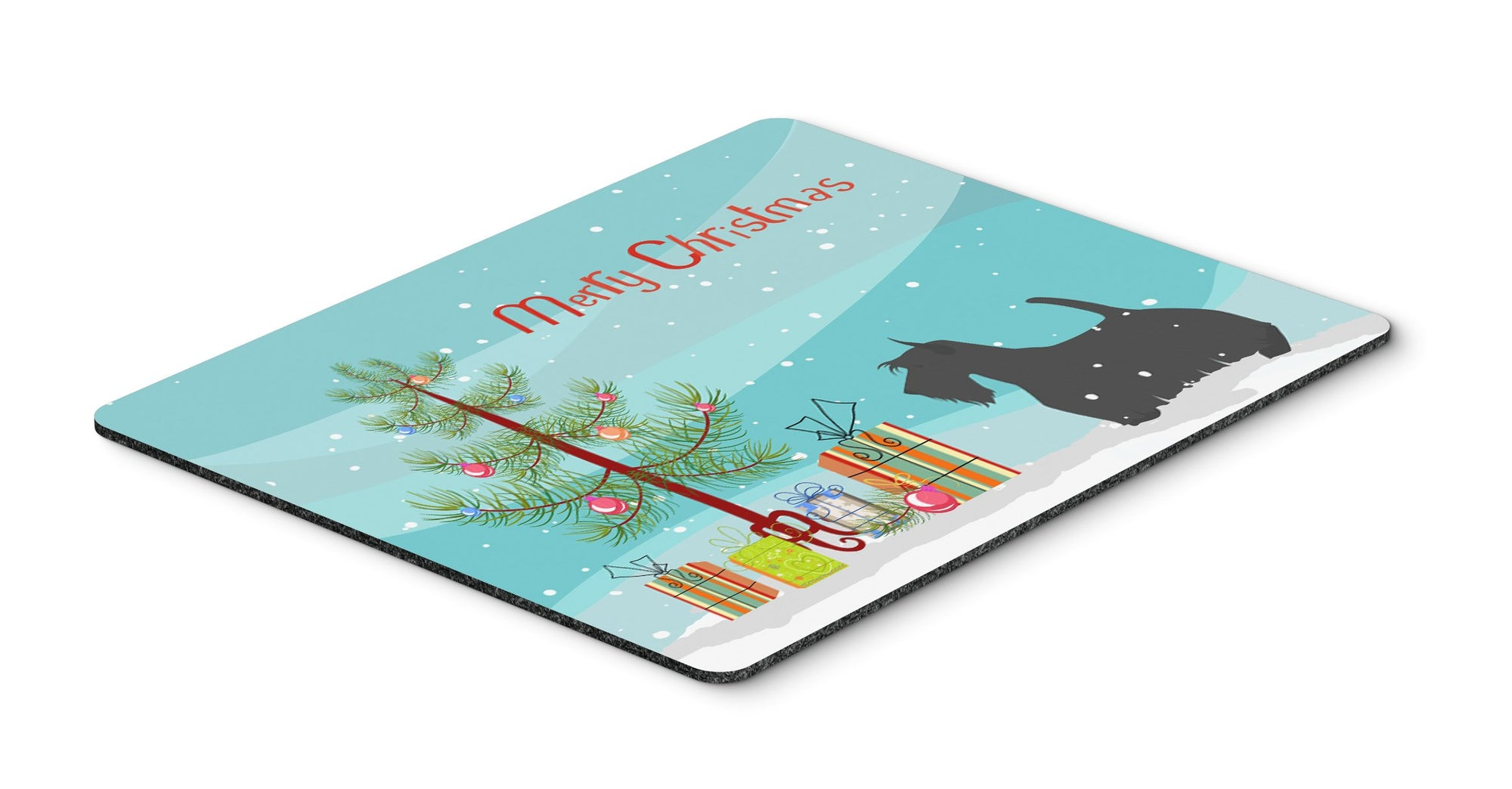"Buy this ""Scottish Terrier Merry Christmas Tree Mouse Pad, Hot Pad or Trivet"""