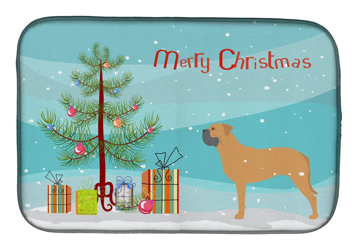 Buy this Bullmastiff Merry Christmas Tree Dish Drying Mat BB2989DDM