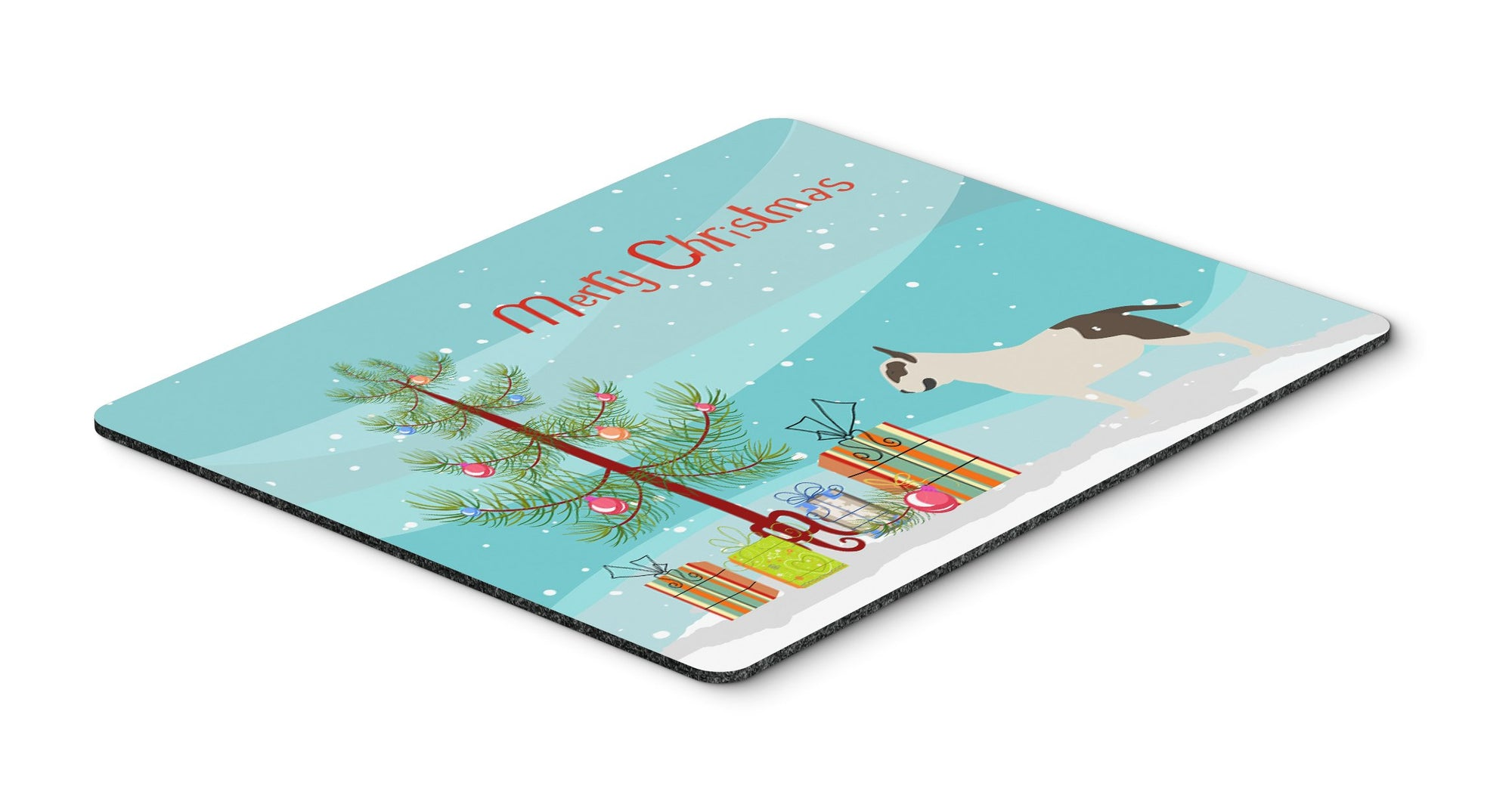 "Buy this ""Bull Terrier Merry Christmas Tree Mouse Pad, Hot Pad or Trivet"""